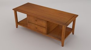 coffee table drawers 3d model