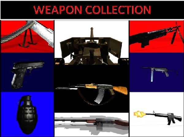 classic weapons 3d max