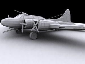 3d model b17 aircraft