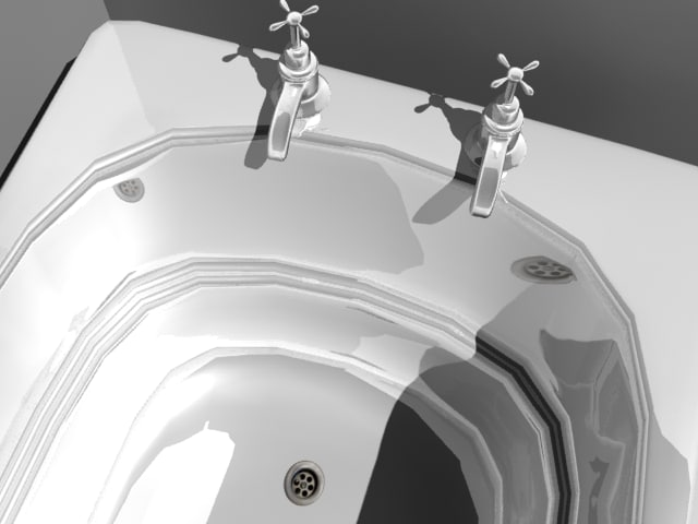 bathroom tub room 3d model