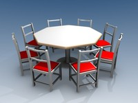 3ds max dining table chairs