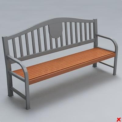 street bench 3d model