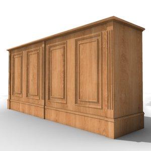 sideboard wood designed 3d max