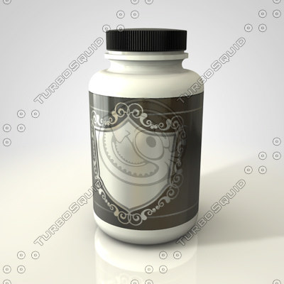 drug bottle 3d model