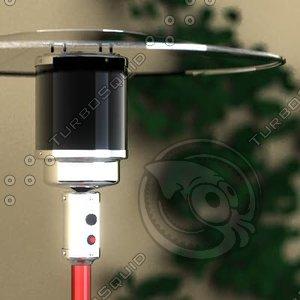 gas heater 3d model