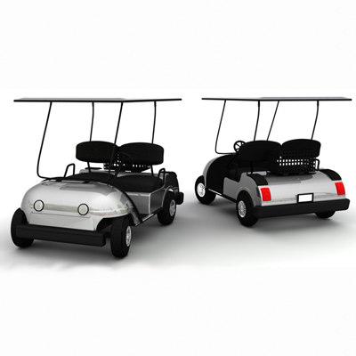 3ds max golf cart