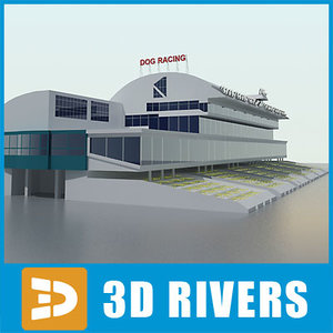 3d model grandstand dog racetrack