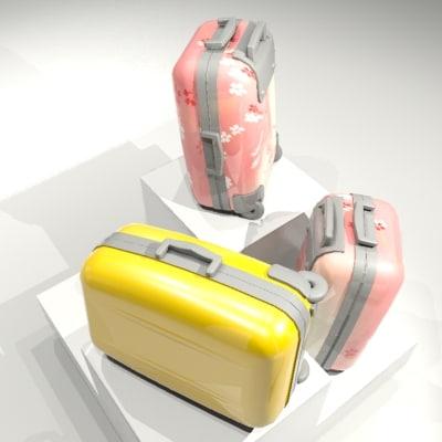 3d model hard luggage