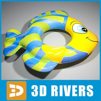 3d inflatable swim ring model