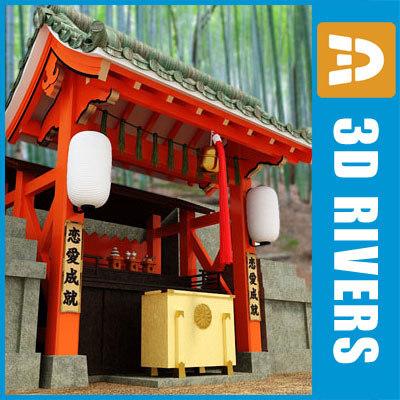 3d model japanese temple 02