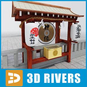 3d japanese temple 06 model