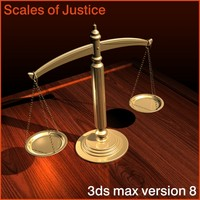scales justice 3d model