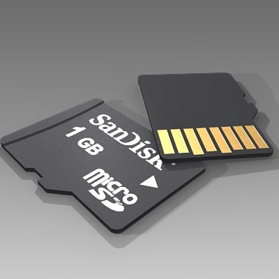 3ds max micro sd card memory