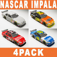 3d nascar chevy impala ss model