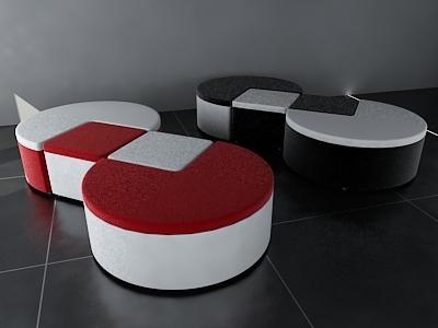 pac-man sofa 3d 3ds