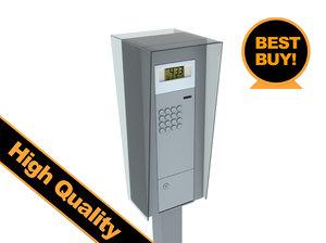 3d model parking meter