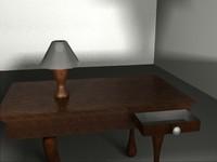 3d desk lamp model