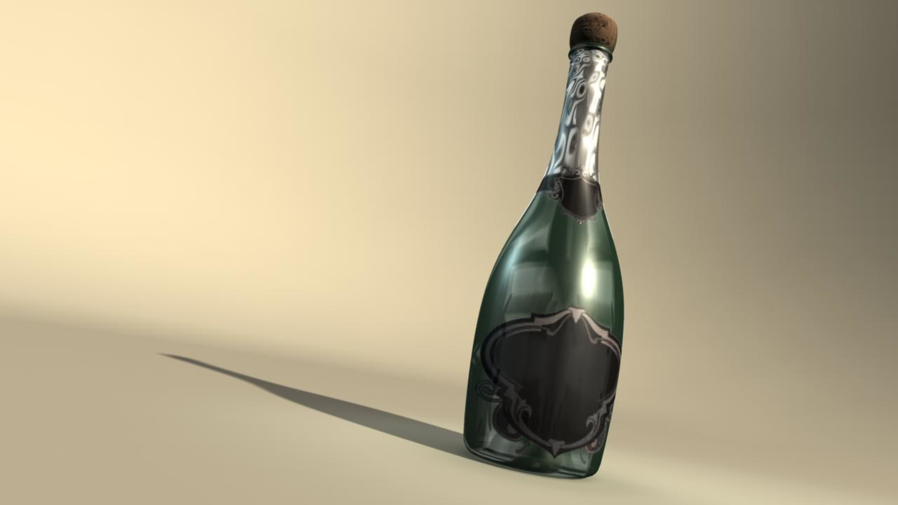 champagne bottle 3ds