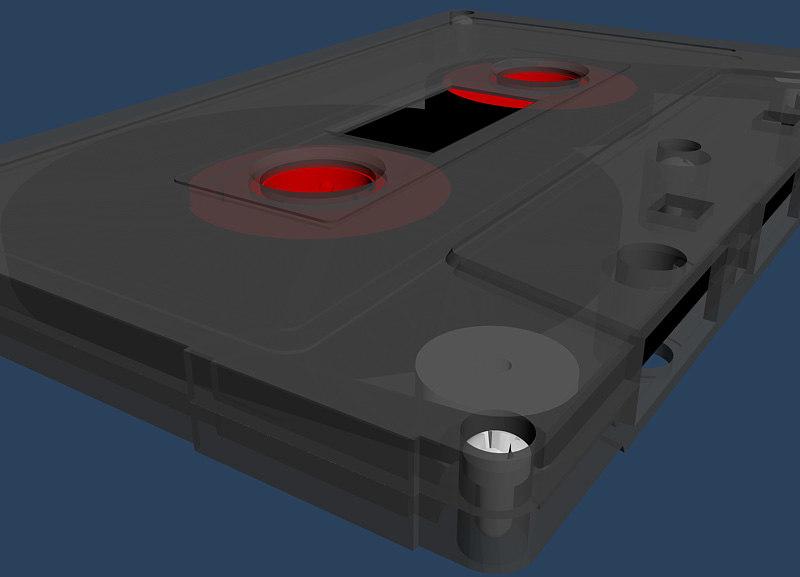 tape cassette studio 3d max