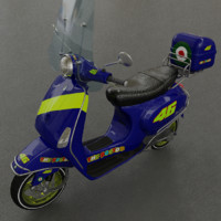 vespa lx50 scooter - 3d model