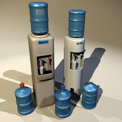 3d model water cooler 02