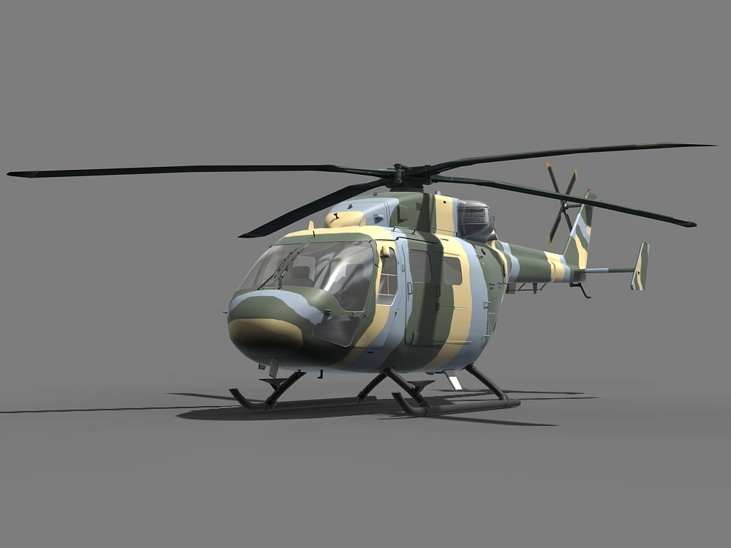 dhruv helicopter 3d 3ds