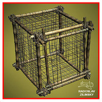 Bamboo CAGE    (prisoners/animals)