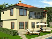 house village railings 3ds