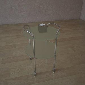 glass table tc 3801 3d 3ds