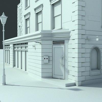 3d model london street