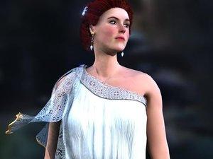 beautifull greek woman dress 3d model