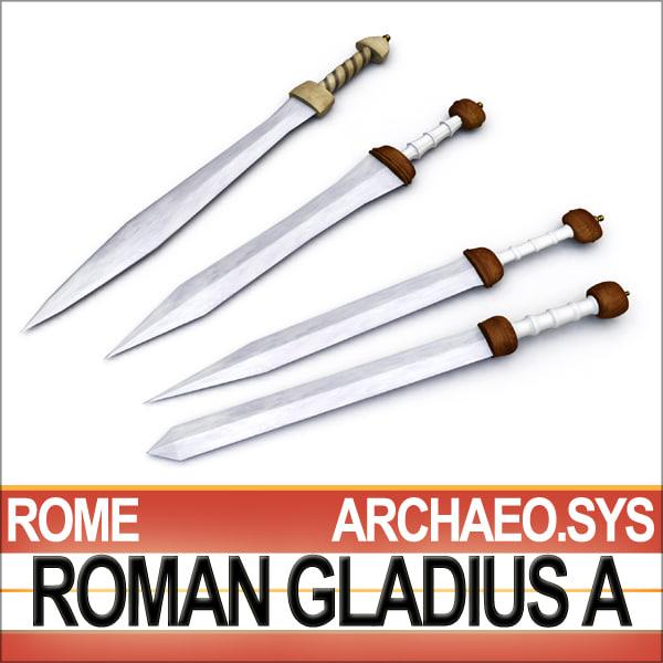 maya roman gladius sword set