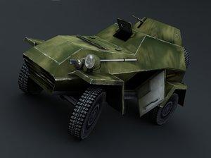 4×4 armoured car 3d model