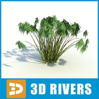 3d bamboo island grass