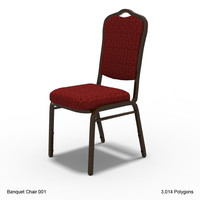 3d model banquet chair