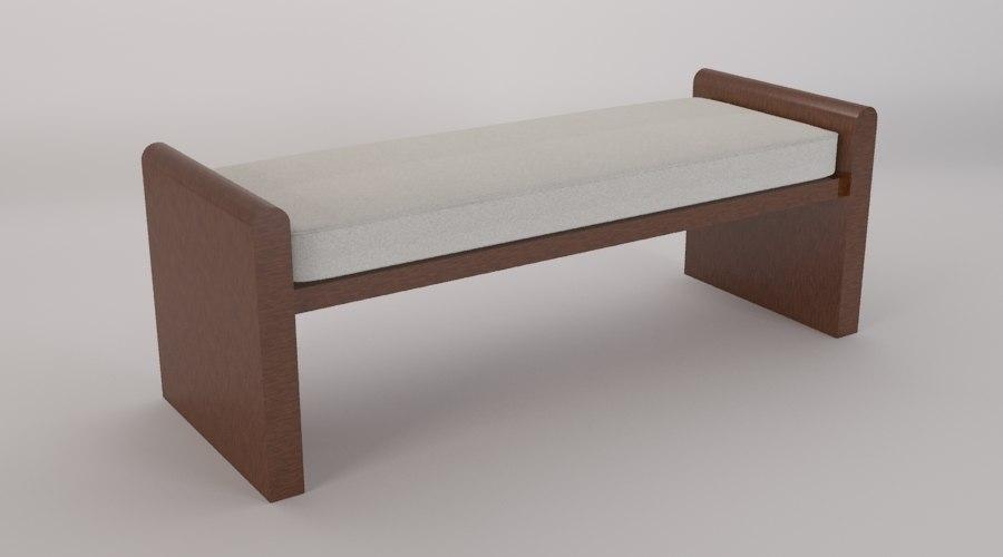 bench bedroom 3d max