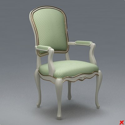 3ds max chair old fashioned