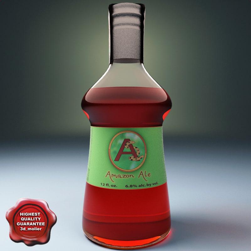 3d cocktail bottle ale model