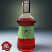 3d cocktail bottle ale model