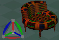 3d chair donut model