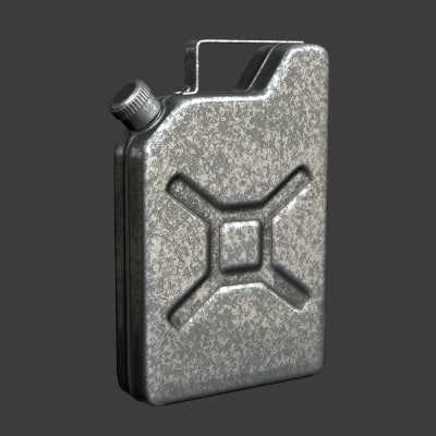 3d gasoline canister cans model