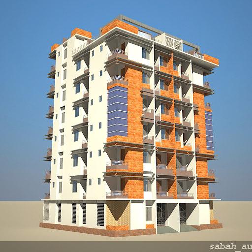 3d Model House Building Residential: 3d Definition Building 03