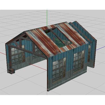 3d huts set hangers