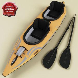 realistic kayak 3d model