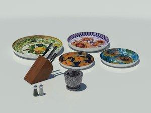 maya kitchen accessories - knife