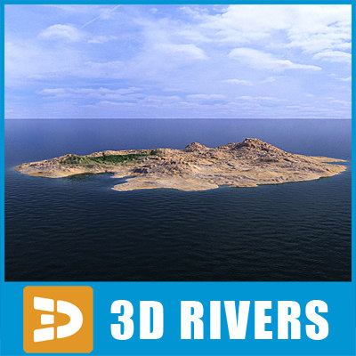 background island 3d model
