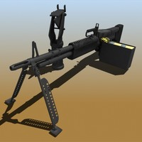 realistic m60 machine gun 3d model