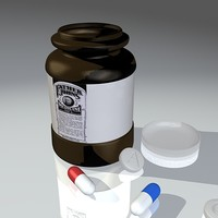 3ds max medicine bottle