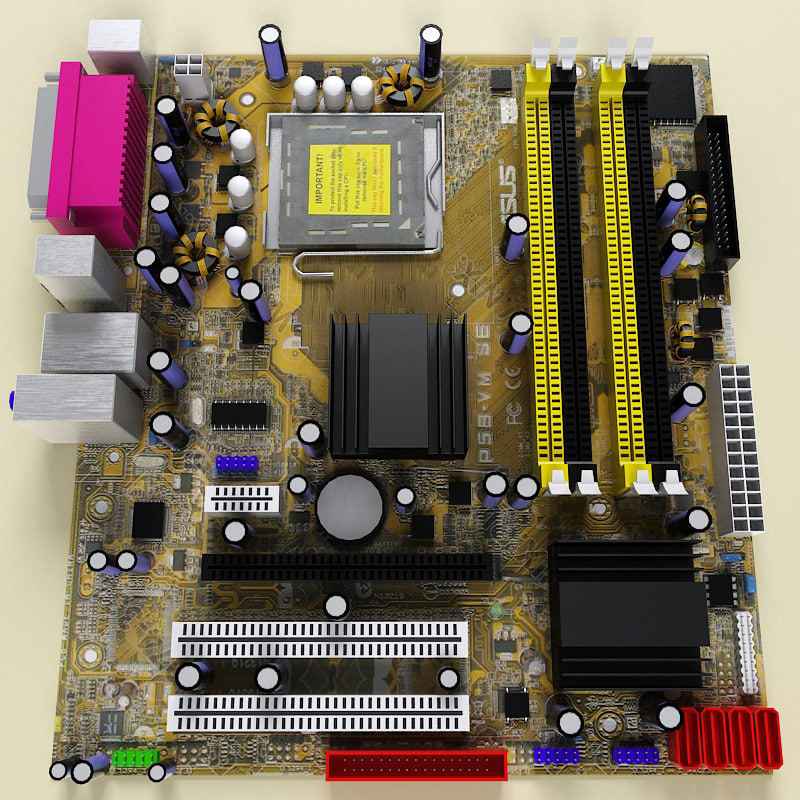 motherboard modelled x 3d model