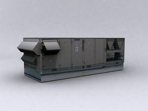 airconditioning unit large 3d max